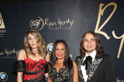 """Paris Jackson, Anita Thompson and Prince Jackson attend the Ryan Gordy Foundation """"60 Years of Motown"""" Celebration at the Waldorf Astoria Beverly Hills on November 11, 2019 in Beverly Hills, California."""