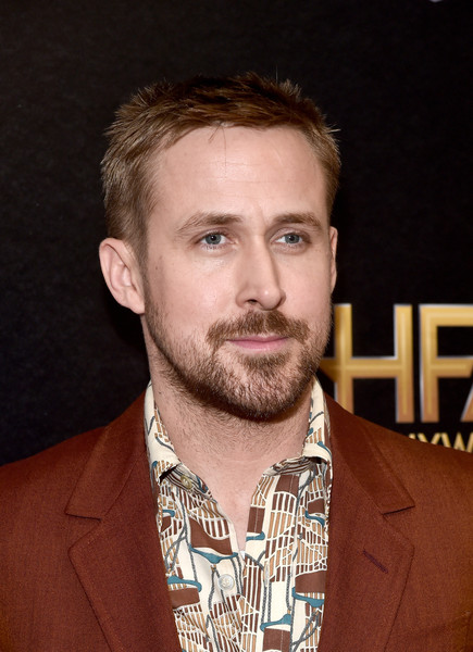 22nd Annual Hollywood Film Awards - Press Room [hair,facial hair,beard,chin,hairstyle,moustache,forehead,actor,gentleman,jaw,ryan gosling,actor,hair,hair,hairstyle,22nd annual hollywood film awards - press room,press room,the beverly hilton hotel,california,annual hollywood film awards,ryan gosling,actor,celebrity,gossip cop,film,photography,blade runner 2049]