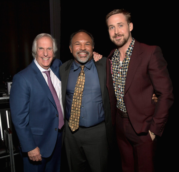 SAG-AFTRA Foundation's 3rd Annual Patron of the Artists Awards [suit,event,fashion,formal wear,award,tuxedo,white-collar worker,fashion design,ryan gosling,henry winkler,geoffrey owens,l-r,california,beverly hills,wallis annenberg center for the performing arts,sag-aftra foundations 3rd annual patron of the artists awards]