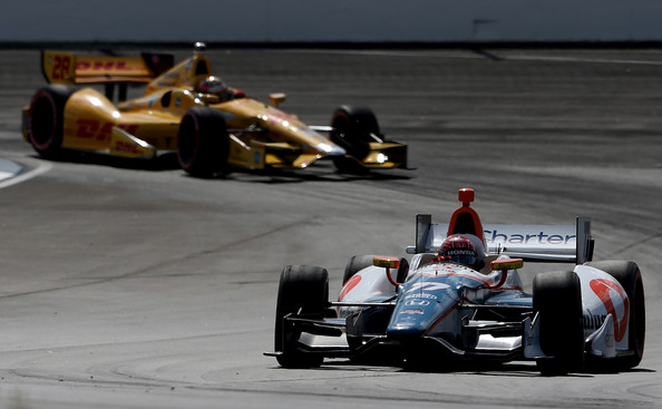 Ryan Hunter-Reay and Simon Pagenaud - Grand Prix of Indianapolis
