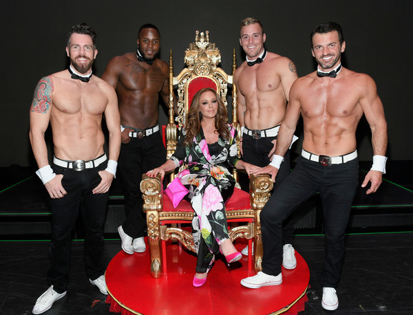 Leah Remini Attends Chippendales Starring Former Dance Partner Tony Dovolani At The Rio Hotel & Casino