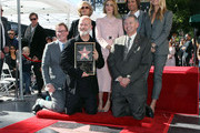 (L-R) Kevin James, Jessica Lange, Ryan Murphy, Sarah Paulson, Hollywood Chamber of Commerce, President/CEO Leron Gubler, Brad Falchuk and Gwyneth Paltrow attend a ceremony honoring Ryan Murphy with a star on The Hollywood Walk of Fame on December 04, 2018 in Hollywood, California.