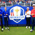 Davis Riley Photos - Marcus Kinhult and Alexandra Forsterling of Team Europe and Amy Lee and Davis Riley of Team USA pose on the first tee during the Friendship Match ahead of the 2014 Ryder Cup on the PGA Centenary course at the Gleneagles Hotel on September 24, 2014 in Auchterarder, Scotland. - Ryder Cup: Previews