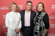 (L-R) SAG-AFTRA Foundation President JoBeth Williams, Esai Morales, and SAG-AFTRA Foundation Executive Director Cyd Wilson attend the SAG-AFTRA Foundation's 3rd Annual Patron of the Artists Awards at the Wallis Annenberg Center for the Performing Arts on November 8, 2018 in Beverly Hills, California.