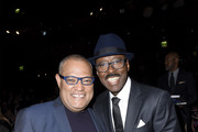 (L-R)  Laurence Fishburne and Courtney B. Vance attend the SAG-AFTRA Foundation's 4th Annual Patron of the Artists Awards at Wallis Annenberg Center for the Performing Arts on November 07, 2019 in Beverly Hills, California.