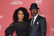 (L-R) Angela Bassett and SAG-AFTRA Foundation president Courtney B. Vance attends SAG-AFTRA Foundation's 4th Annual Patron of the Artists Awards at Wallis Annenberg Center for the Performing Arts on November 07, 2019 in Beverly Hills, California.
