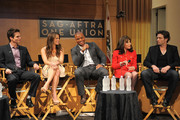 (L-R) Actors Greg Rikaart, Melissa Claire Egan, Redaric Williams, Kate Linder and Daniel Goddard participate in the 40 years of 'The Young and The Restless' celebration and panel discussion presented by SAG-AFTRA at SAG-AFTRA on June 4, 2013 in Los Angeles, California.