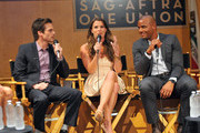 (L-R) Actors Greg Rikaart, Melissa Claire Egan and Redaric Williams participate in the 40 years of 'The Young and The Restless' celebration and panel discussion presented by SAG-AFTRA at SAG-AFTRA on June 4, 2013 in Los Angeles, California.