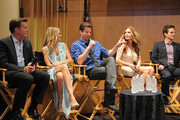 (L-R) Actors Peter Bergman, Sharon Case, Michael Muhney, Tarcey E. Bregman and Greg Rikaart attend the 40 years of 'The Young and The Restless' celebration presented by SAG-AFTRA at SAG-AFTRA on June 4, 2013 in Los Angeles, California.