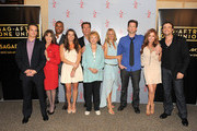 (L-R) Actors Greg Rikaart, Kate Linder, Redaric Williams, Melissa Claire Egan, Peter Bergman, co-creator Lee Phillips Bell, Sharon Case, Michael Muhney, Tracey E. Bregman and Daniel Goddard attend the 40 years of 'The Young and The Restless' celebration presented by SAG-AFTRA at SAG-AFTRA on June 4, 2013 in Los Angeles, California.