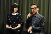 Writer/actor Carrie Brownstein and actor/producer Fred Armisen attend Sag Foundation's Conversations with Portlandia's Fred Armisen and Carrie Brownstein held at SAG Foundation Actors Center on June 18, 2014 in Los Angeles, California.