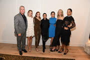 "(L-R) Robert Curtis Brown, Sydney Sweeney, Alexis Bledel, Ane Crabtree, Nina Kiri, Ever Carradine, and Amanda Brugel attend SCAD FASH Premiere of ""The Handmaid's Tale"" Exhibition at SCADshow on April 30, 2018 in Atlanta, Georgia."