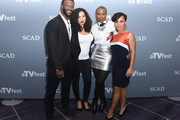 """(L-R) Actors Aldis Hodge, Jurnee Smollett-Bell, Aisha Hinds and Amirah Vann attend a press junket for """"Underground"""" on Day One of aTVfest 2017 presented by SCAD on February 2, 2017 in Atlanta, Georgia."""