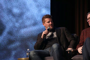 """David Boreanaz speaks onstage at the """"SEAL Team"""" Q&A during SCAD aTVfest 2019 at SCADshow on February 09, 2019 in Atlanta, Georgia."""