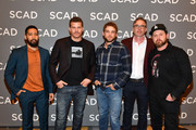 "Neil Brown Jr., David Boreanaz, Max Thieriot, John Glenn, and A.J. Buckley attend the ""SEAL Team"" press junket during SCAD aTVfest 2019 at Four Seasons Hotel on February 09, 2019 in Atlanta, Georgia."