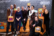 """Michael O'Neill, J. August Richards, Joan Rater, Tony Phelan, Sarah Wayne Callies, Michele Weaver, Corey Graves and Clive Standen attend SCAD aTVfest 2020 - """"Council Of Dads"""" on February 28, 2020 in Atlanta, Georgia."""