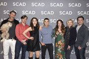 "Mark L. Young, Melia Kreiling, Benjamin Levy Aguilar, Aubrey Dollar, Kim Cattrall and Tate Taylor attend the SCAD aTVfest 2020 - ""Filthy Rich"" With Kim Cattrall Icon Award Presentation on February 27, 2020 in Atlanta, Georgia."
