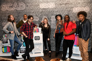 "(L-R) Kaylee Bryant, Peyton Alex Smith, Aria Shahghasemi, Julie PlecDanielle Rose Russell, Brent Matthews, Samantha Highfield, Chris Lee, Jenny Boyd, and Quincy Fouse speak onstage SCAD aTVfest 2020 - ""Legacies"" on February 29, 2020 in Atlanta, Georgia."