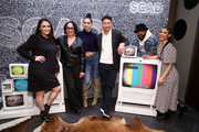 (L-R) S. Epatha Merkerson, Miranda Rae Mayo, Brian Tee, LaRoyce Hawkins, and Lisseth Chavez attend the SCAD aTVfest 2020 - The Windy City Trifecta: Dick Wolf's 'Chicago' Panel on February 29, 2020 in Atlanta, Georgia.