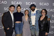 Brian Tee, Miranda Rae Mayo, Lisseth Chavez, LaRoyce Hawkins, and S. Epatha Merkerson attend SCAD aTVfest 2020 - The Windy City Trifecta: Dick Wolf's 'Chicago' Panel on February 29, 2020 in Atlanta, Georgia.