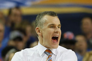 Head coach Billy Donovan of the Florida Gators reacts in the second half against the Kentucky Wildcats during the Championship game of the 2014 Men's SEC Basketball Tournament at Georgia Dome on March 16, 2014 in Atlanta, Georgia.