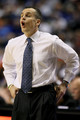 Head coach Billy Donovan of the Florida Gators coaches against the Auburn Tigers during the first round of the SEC Men's Basketball Tournament at the Bridgestone Arena on March 11, 2010 in Nashville, Tennessee.