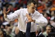 Head coach Billy Donovan of the Florida Gators gestures as he coaches against the Auburn Tigers during the first round of the SEC Men's Basketball Tournament at the Bridgestone Arena on March 11, 2010 in Nashville, Tennessee.