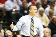 Head coach Billy Donovan of the Florida Gators reacts in the first half against the Alabama Crimson Tide during the semifinals of the SEC Baketball Tournament at Bridgestone Arena on March 16, 2013 in Nashville, Tennessee.