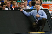 Head coach Billy Donovan of the Florida Gators looks on against the Tennessee Volunteers during the semifinals of the SEC Men's Basketball Tournament at Georgia Dome on March 15, 2014 in Atlanta, Georgia.