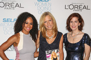 (L-R) Actress Monique Coleman, SELF editor-in-chief Lucy Danziger and honoree Jessica Greer Morris arrive at the 6th annual SELF Magazine's Women Doing Good Awards at Apella on September 11, 2013 in New York City.