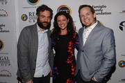 Josh Radnor; Jennifer Lafleur and Jeff D. Johnson attend the Cinema Tropicale Event on April 8, 2016 in Sarasota, Florida.