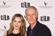 Kate Winslet and Director James Cameron attend SFFILM's 60th Anniversary Awards Night at Palace of Fine Arts Theatre on December 5, 2017 in San Francisco, California.