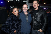 (L-R) Shanola Hampton, IMDb Managing Editor Keith Simanton, and Steve Howey attend a party hosted by SHOWTIME®, Prime Video Channels, and IMDb to celebrate SHAMELESS at Acura Festival Village on January 26, 2019 in Park City, Utah.