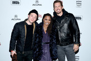 (L-R) Jeremy Allen White, Shanola Hampton and Steve Howey attend a party hosted by SHOWTIME®, Prime Video Channels, and IMDb to celebrate SHAMELESS at Acura Festival Village on January 26, 2019 in Park City, Utah.