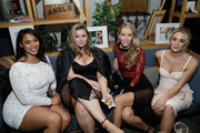 (L-R) Tabria Majors, Hunter McGrady, Olivia Jordan and Allie Ayers attend the SI Swimsuit 2018 Model Search celebration and preview of the Sports Illustrated Swim and Active Collection at Mr. Purple in Hotel Indigo LES November 1, 2017 in New York City.