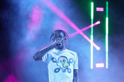 Travis Scott performs onstage at SOMETHING IN THE WATER - Day 2 on April 27, 2019 in Virginia Beach City.