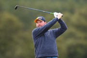 John Gallagher of Scotland plays his first shot on the 1st tee during Day Three of the SSE Scottish Hydro Challenge hosted by Macdonald Hotels and Resorts at Macdonald Spey Valley Golf Course on June 23, 2018 in Aviemore, Scotland.
