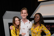 "Emily Browning, Bruce Langley and Yetide Badaki attend the STARZ American Gods ""House of the Gods"" intimate experience at SXSW on March 9, 2019 in Austin, Texas."