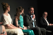 """(L-R) Actors Philippa Coulthard, Hayley Atwell, Matthew Macfadyen and Execuctive producer of """"Howards End"""" Colin Callender speak onstage during the STARZ """"Counterpart"""" & """"Howards End"""" FYC Event at LACMA on May 23, 2018 in Los Angeles, California."""