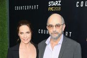 """Actors Sheila Kelley (L) and Richard Schiff attend the STARZ """"Counterpart"""" & """"Howards End"""" FYC Event at LACMA on May 23, 2018 in Los Angeles, California."""