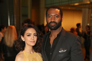 """Actors Nazanin Boniadi (L) and Nicholas Pinnock attend the STARZ """"Counterpart"""" & """"Howards End"""" FYC Event at LACMA on May 23, 2018 in Los Angeles, California."""