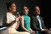 """(L-R) Actors Philippa Coulthard, Hayley Atwell and Matthew Macfadyen speak onstage during the STARZ """"Counterpart"""" & """"Howards End"""" FYC Event at LACMA on May 23, 2018 in Los Angeles, California."""