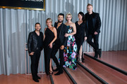 """Lee Latchford-Evans, Faye Tozer, Rylan Clarke, Claire Richards Lisa Scott-Lee and Ian """"H"""" Watkins at the DVD launch of 'Steps Party On The Dancefloor' at the Everyman Cinema on June 4, 2018 in London, England."""