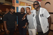 """(L-R) Usher Raymond, F. Gary Gray, Ludacris and 2 Chainz attends """"Straight Outta Compton"""" VIP screening with director/producer F. Gary Gray, producer Ice Cube, executive producer Will Packer and cast members at Regal Atlantic Station on July 24, 2015 in Atlanta, Georgia."""