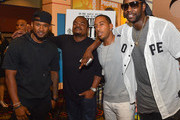 """(L-R) Usher Raymond, F. Gary Gray, Ludacris, and 2 Chainz attend """"Straight Outta Compton"""" VIP screening with director/producer F. Gary Gray, producer Ice Cube, executive producer Will Packer and cast members at Regal Atlantic Station on July 24, 2015 in Atlanta, Georgia."""