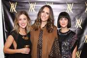 (L-R) Ashley Streicher, Louiise Roe and Jenn Streicher attend STRIIIKE Opening on January 8, 2015 in Beverly Hills, California.