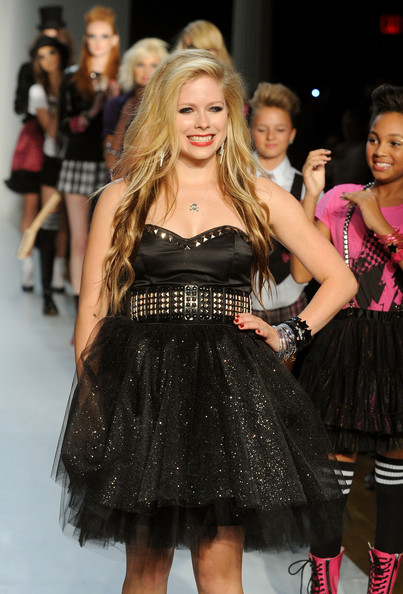 Designer Avril Lavigne on the runway at STYLE360's presentation of Abbey Dawn Spring 2010 at the Metropolitan Pavilion on September 14, 2009 in New York City.