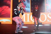 Quavo and Offset of Migos perform at SUMMERSFEST 2019 at The Novo by Microsoft on August 12, 2019 in Los Angeles, California.