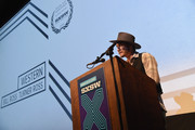 Filmmaker Turner Ross accepts an award during the SXSW Film Awards during the 2015 SXSW Music, Film + Interactive Festival at Paramount Theatre on March 17, 2015 in Austin, Texas.