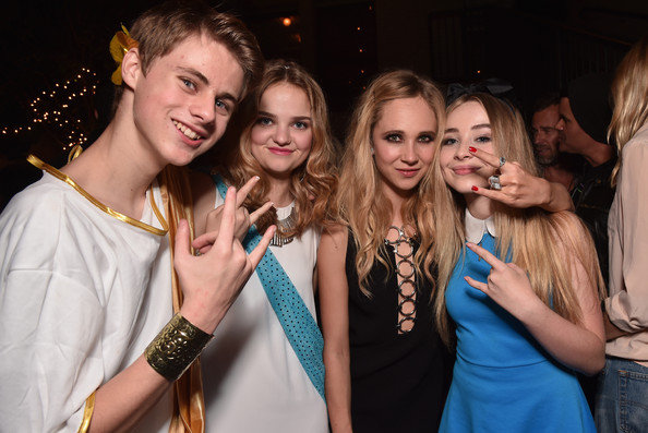 "Premiere Of RADiUS-TWC's ""Horns"" - After Party [event,fun,youth,fashion,party,nightclub,formal wear,photography,fashion accessory,long hair,mitchell kummen,sabrina carpenter,juno temple,laine mcneal,horns,radius-twc,party,premiere,party,premiere]"